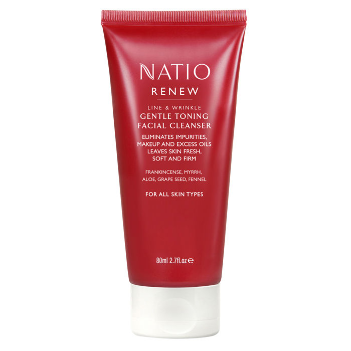 Buy Natio Renew Line & Wrinkle Gentle Toning Facial Cleanser (80 ml)-Purplle