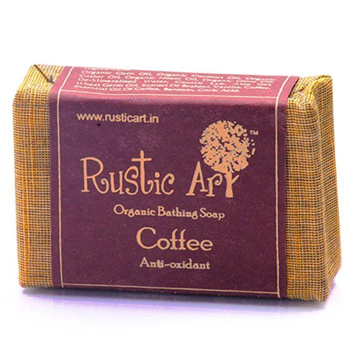 Buy Rustic Art Organic Coffee Soap (Set of 2)-Purplle