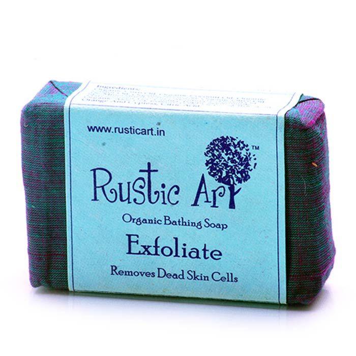 Buy Rustic Art Organic Exfoliate Soap (Set of 2)-Purplle