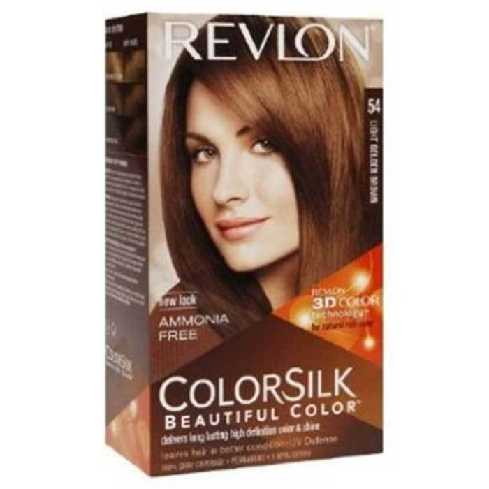 Buy Revlon ColorSilk Hair Color with 3D Color Technology Light Golden Brown 5G-Purplle