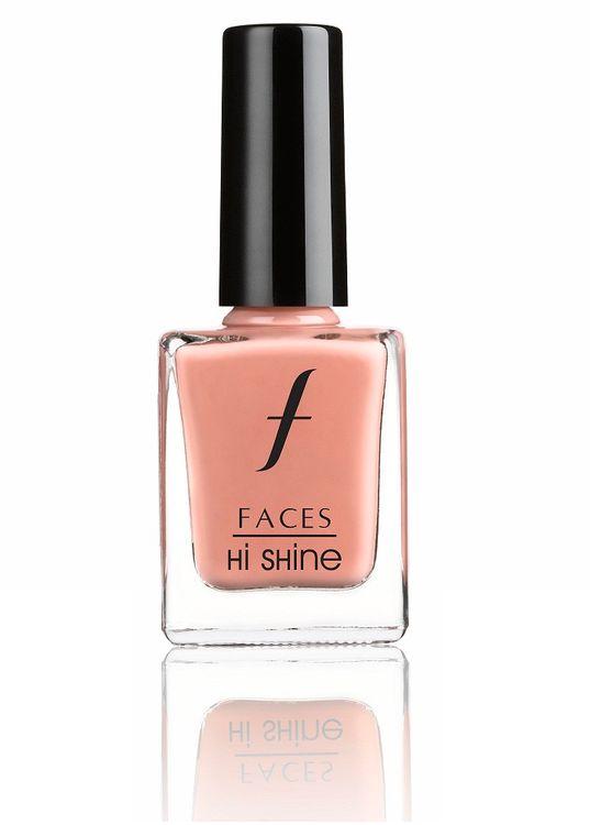 Buy Faces Canada Hi Shine Nail Enamel True Peach 130 (9ml)-Purplle