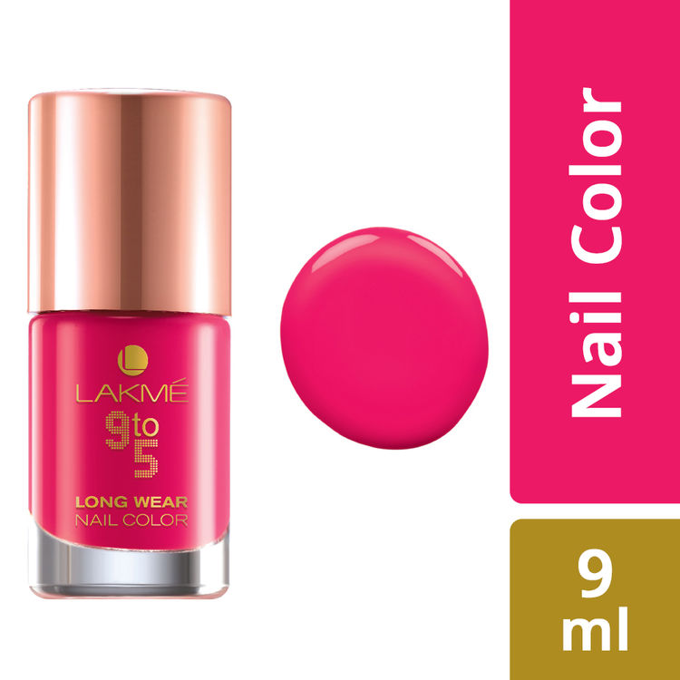 Buy Lakme 9 To 5 Long Wear Nail Color Pink Blast (9 ml)-Purplle
