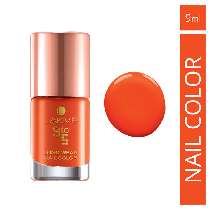 Buy Lakme 9 To 5 Long Wear Nail Color Tangerine Star (9 ml)-Purplle