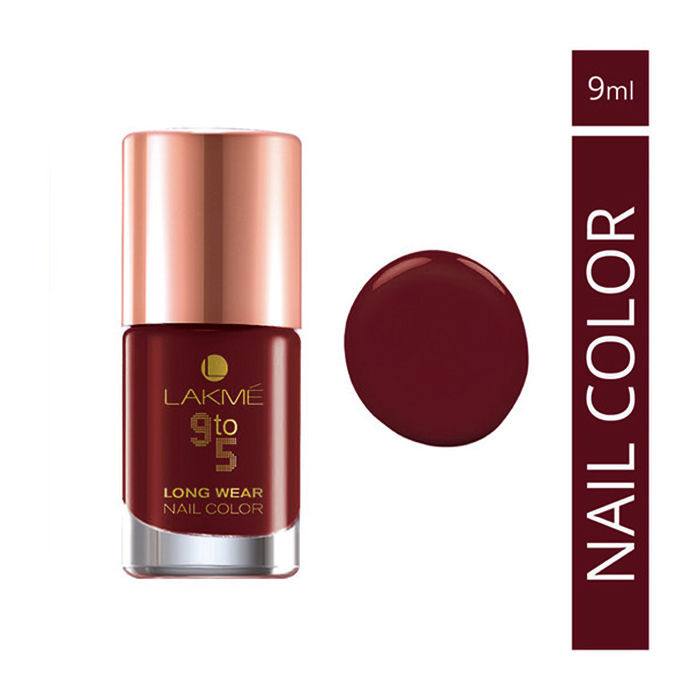 Buy Lakme 9 To 5 Long Wear Nail Color Red League (9 ml)-Purplle