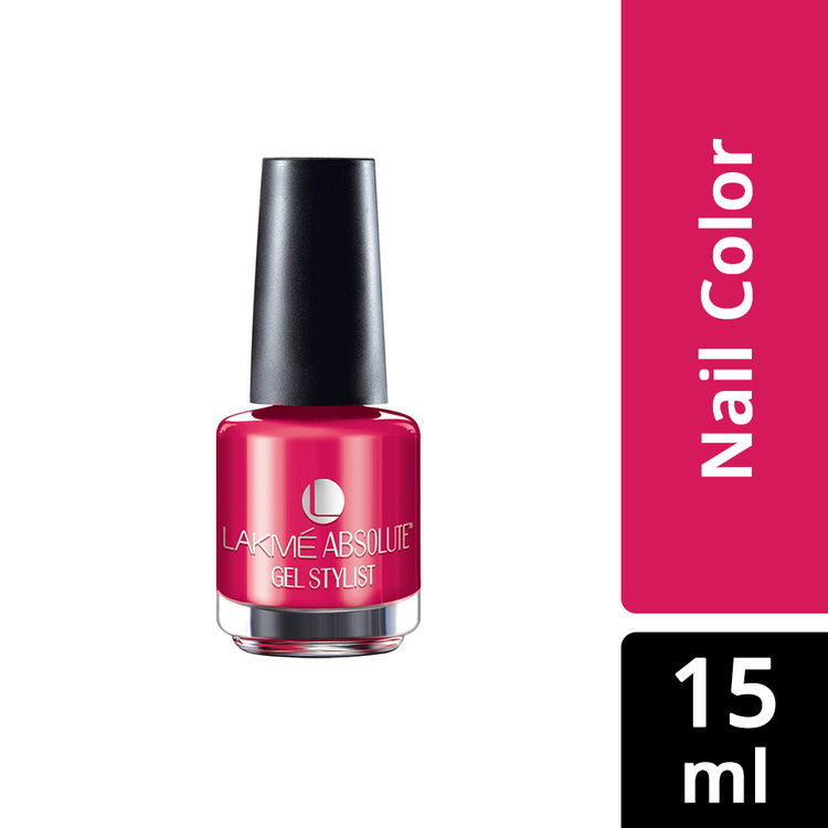 Buy Lakme Absolute Gel Stylist Nail Color Pink Drama (15 ml)-Purplle