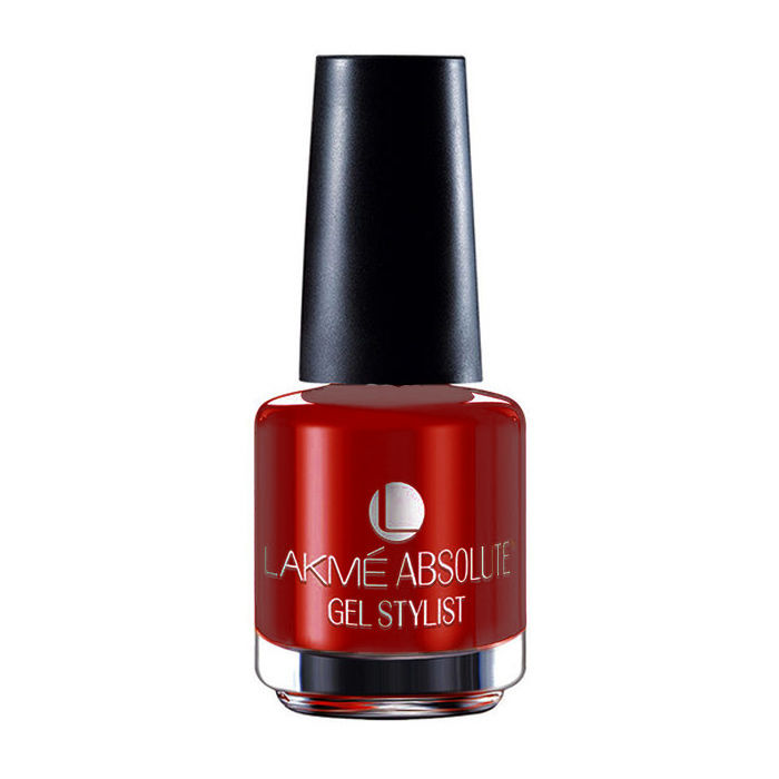 Buy Lakme Absolute Gel Stylist Nail Color Red Lush (15 ml)-Purplle