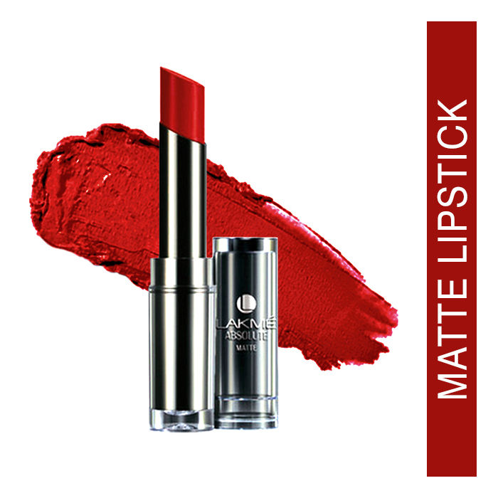 Buy Lakme Absolute Matte Lipstick Red Envy (3.7 g)-Purplle