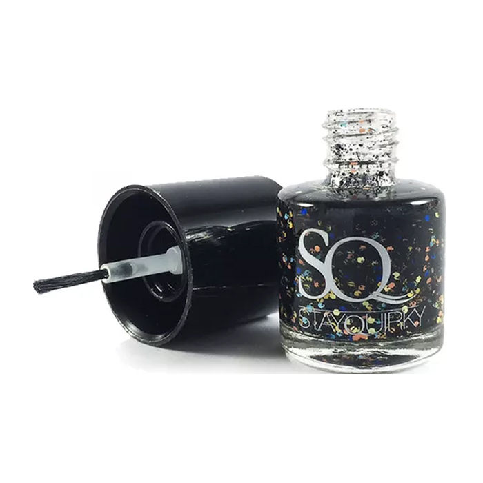 Buy Stay Quirky Nail Polish, Black Fiesta Effect, Fragile Zone 906-Purplle