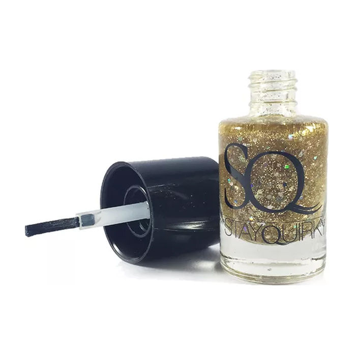 Buy Stay Quirky Nail Polish, Shimmer, Golden - Molten Glass 657-Purplle