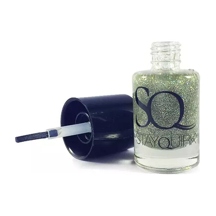 Buy Stay Quirky Nail Polish, Glitter, Silver - Blazing Glaze 686-Purplle
