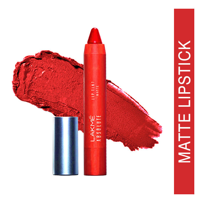 Buy Lakme Absolute Lip Pout Matte Lip Color Starlet Red (3.5 g)-Purplle