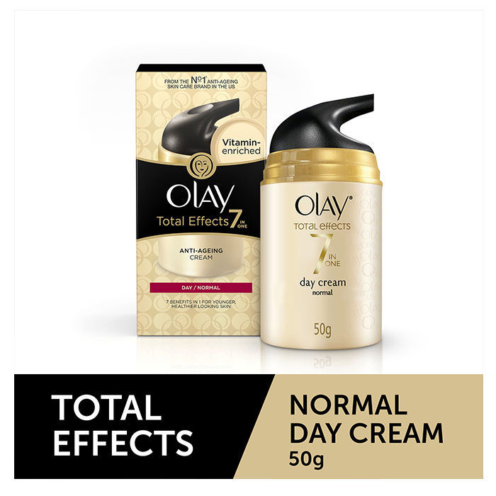 Buy Olay Total Effects 7 In 1 Anti Aging Day Cream Normal (50 g)-Purplle