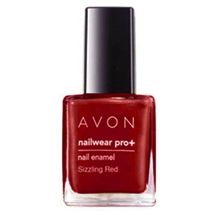 Buy Avon Color Nailwear Pro Plus Sizzling Red (8 ml)-Purplle