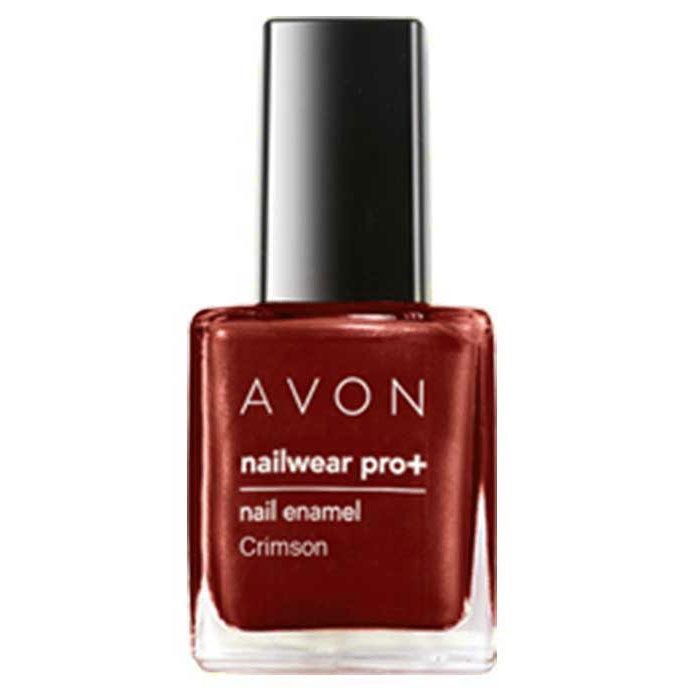 Buy Avon Color Nailwear Pro Plus Crimson (8 ml)-Purplle