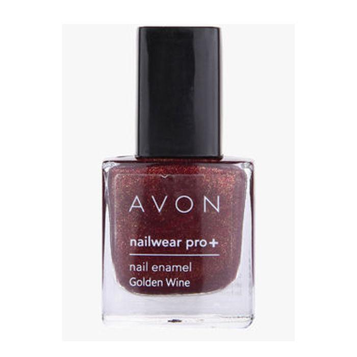 Buy Avon Color Nailwear Pro Plus Golden wine (8 ml)-Purplle