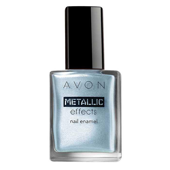 Buy Avon Metallic Effects Nail Enamel Arctic Steel (8 ml)-Purplle