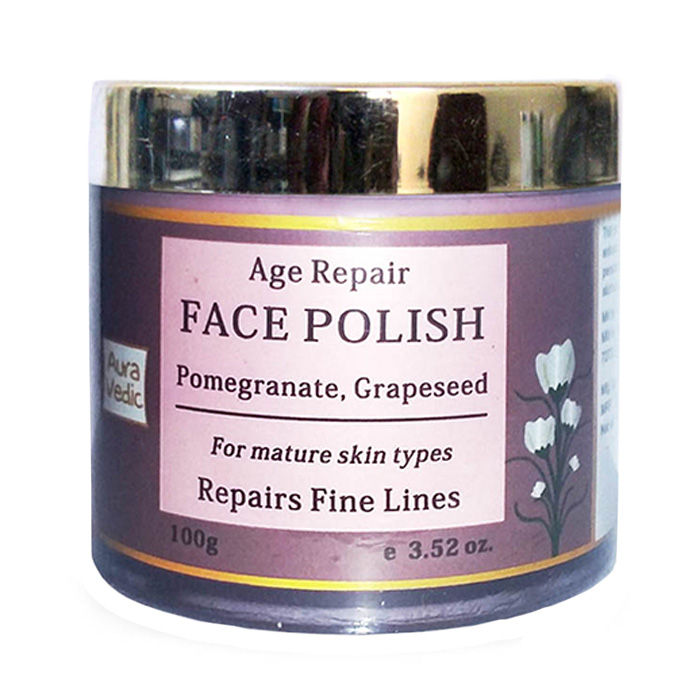 Buy Auravedic Age Repair Face Polish Pomegranate | Grapeseed (100 g)-Purplle