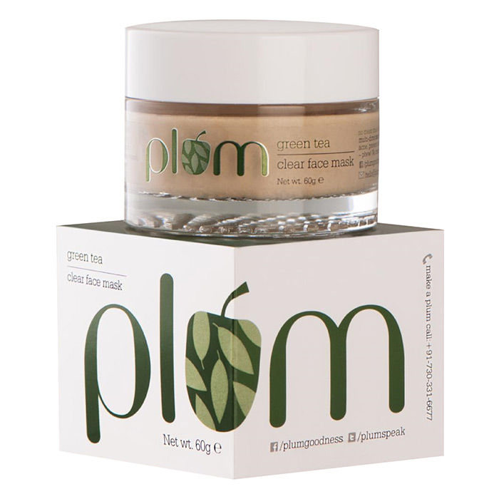 Buy Plum Green Tea Clear Face Mask (60 g)-Purplle