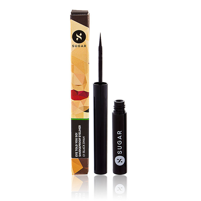 Buy SUGAR Cosmetics Eye Told You So! Smudge Proof Eyeliner - 01 Black Swan (Black)-Purplle