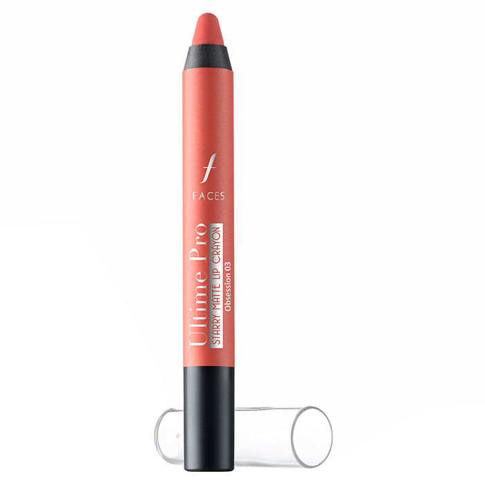 Buy Faces Canada Ultime Pro Starry Matte Lip Crayon Obsession 03 (2.8 g) + Free Sharpner-Purplle